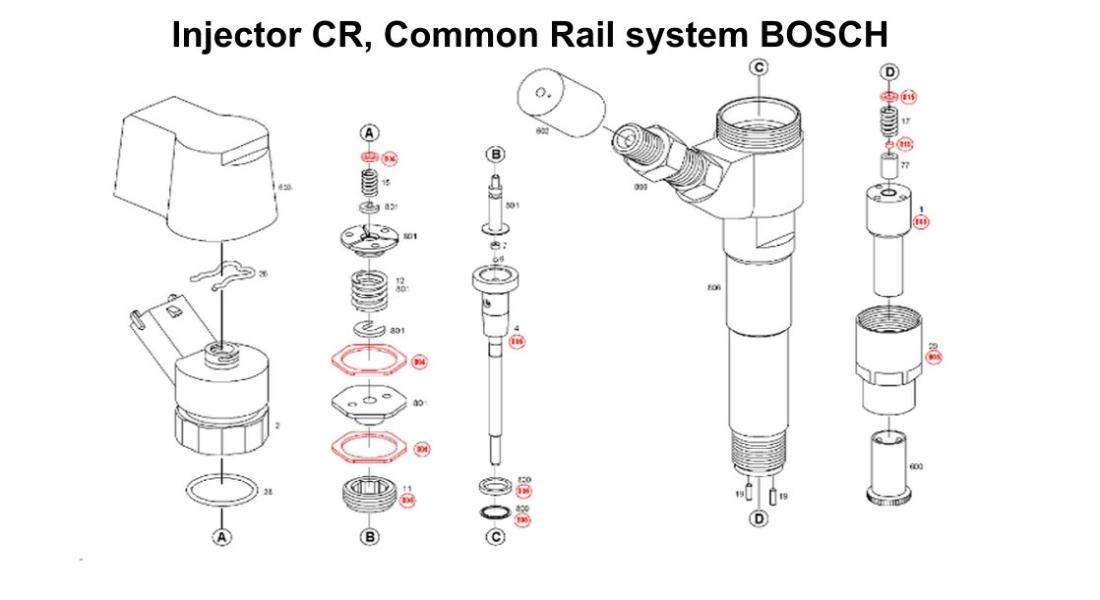 injector bosch demontat